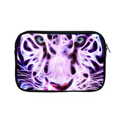 Fractal Wire White Tiger Apple Ipad Mini Zipper Cases by Simbadda