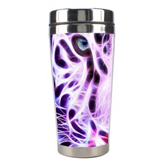 Fractal Wire White Tiger Stainless Steel Travel Tumblers by Simbadda