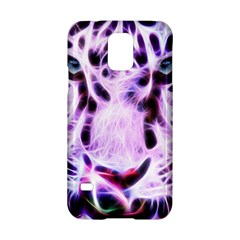 Fractal Wire White Tiger Samsung Galaxy S5 Hardshell Case  by Simbadda