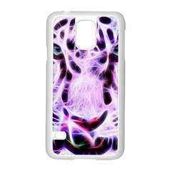 Fractal Wire White Tiger Samsung Galaxy S5 Case (white) by Simbadda