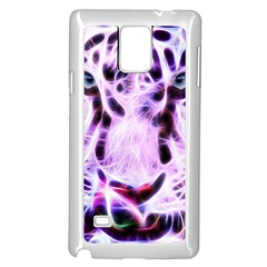 Fractal Wire White Tiger Samsung Galaxy Note 4 Case (white) by Simbadda