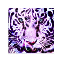 Fractal Wire White Tiger Small Satin Scarf (square) by Simbadda