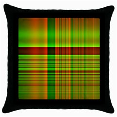 Multicoloured Background Pattern Throw Pillow Case (black) by Simbadda