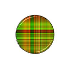 Multicoloured Background Pattern Hat Clip Ball Marker by Simbadda