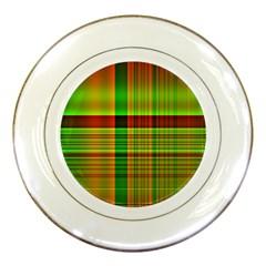 Multicoloured Background Pattern Porcelain Plates by Simbadda