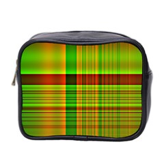 Multicoloured Background Pattern Mini Toiletries Bag 2 Side by Simbadda