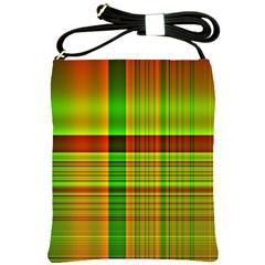 Multicoloured Background Pattern Shoulder Sling Bags by Simbadda