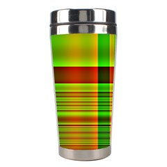 Multicoloured Background Pattern Stainless Steel Travel Tumblers by Simbadda
