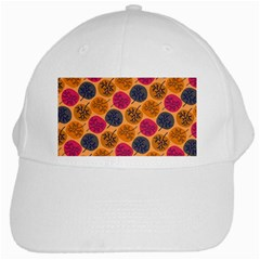 Colorful Trees Background Pattern White Cap by Simbadda