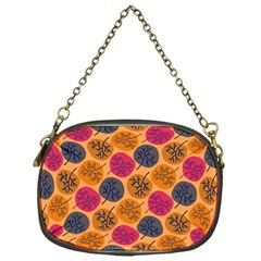 Colorful Trees Background Pattern Chain Purses (one Side)  by Simbadda