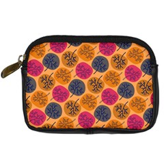 Colorful Trees Background Pattern Digital Camera Cases by Simbadda