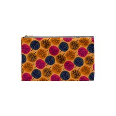 Colorful Trees Background Pattern Cosmetic Bag (small)  by Simbadda