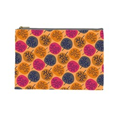 Colorful Trees Background Pattern Cosmetic Bag (large)  by Simbadda