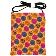 Colorful Trees Background Pattern Shoulder Sling Bags by Simbadda