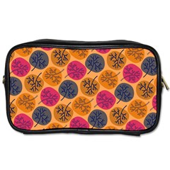Colorful Trees Background Pattern Toiletries Bags by Simbadda