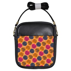 Colorful Trees Background Pattern Girls Sling Bags by Simbadda
