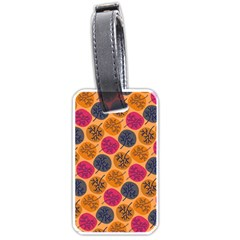 Colorful Trees Background Pattern Luggage Tags (one Side)  by Simbadda