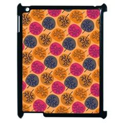 Colorful Trees Background Pattern Apple Ipad 2 Case (black) by Simbadda