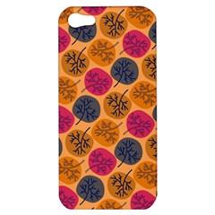 Colorful Trees Background Pattern Apple Iphone 5 Hardshell Case by Simbadda