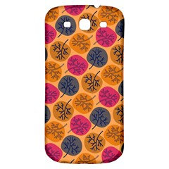 Colorful Trees Background Pattern Samsung Galaxy S3 S Iii Classic Hardshell Back Case by Simbadda