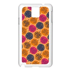 Colorful Trees Background Pattern Samsung Galaxy Note 3 N9005 Case (white) by Simbadda