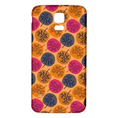 Colorful Trees Background Pattern Samsung Galaxy S5 Back Case (white) by Simbadda