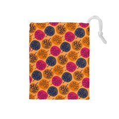 Colorful Trees Background Pattern Drawstring Pouches (medium)  by Simbadda