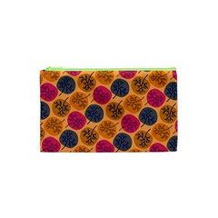 Colorful Trees Background Pattern Cosmetic Bag (xs) by Simbadda