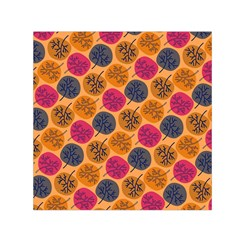 Colorful Trees Background Pattern Small Satin Scarf (square) by Simbadda