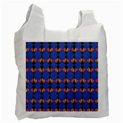 Abstract Lines Seamless Pattern Recycle Bag (two Side)  by Simbadda