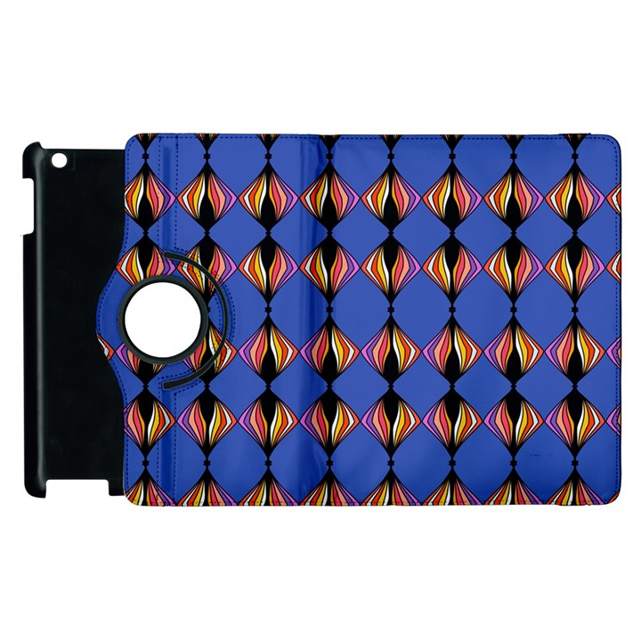 Abstract Lines Seamless Pattern Apple iPad 3/4 Flip 360 Case