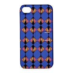 Abstract Lines Seamless Pattern Apple Iphone 4/4s Hardshell Case With Stand by Simbadda