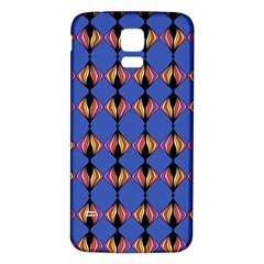 Abstract Lines Seamless Pattern Samsung Galaxy S5 Back Case (white) by Simbadda