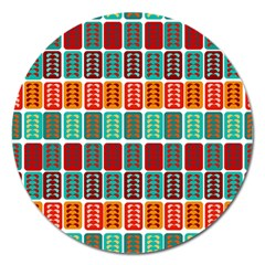 Bricks Abstract Seamless Pattern Magnet 5  (round) by Simbadda
