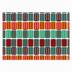 Bricks Abstract Seamless Pattern Large Glasses Cloth by Simbadda