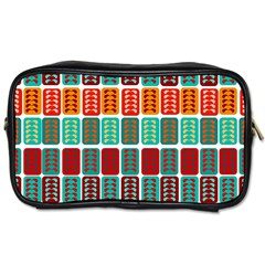 Bricks Abstract Seamless Pattern Toiletries Bags 2 Side by Simbadda