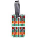 Bricks Abstract Seamless Pattern Luggage Tags (Two Sides) Back