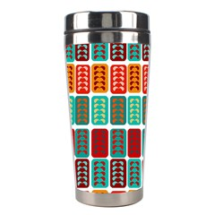 Bricks Abstract Seamless Pattern Stainless Steel Travel Tumblers by Simbadda