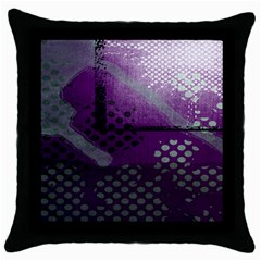 Evil Moon Dark Background With An Abstract Moonlit Landscape Throw Pillow Case (black) by Simbadda