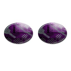 Evil Moon Dark Background With An Abstract Moonlit Landscape Cufflinks (oval) by Simbadda