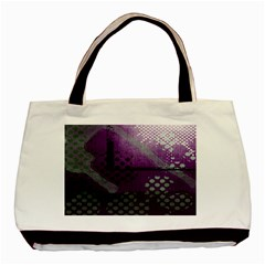 Evil Moon Dark Background With An Abstract Moonlit Landscape Basic Tote Bag (two Sides) by Simbadda