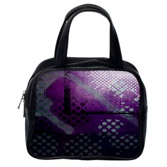 Evil Moon Dark Background With An Abstract Moonlit Landscape Classic Handbags (one Side) by Simbadda