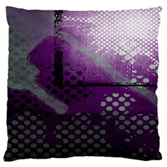 Evil Moon Dark Background With An Abstract Moonlit Landscape Large Flano Cushion Case (two Sides) by Simbadda