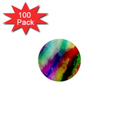 Colorful Abstract Paint Splats Background 1  Mini Magnets (100 Pack)  by Simbadda