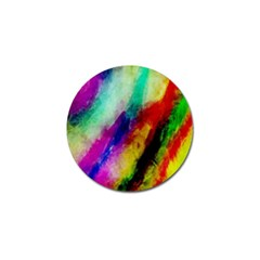 Colorful Abstract Paint Splats Background Golf Ball Marker (4 Pack) by Simbadda