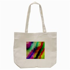 Colorful Abstract Paint Splats Background Tote Bag (cream) by Simbadda