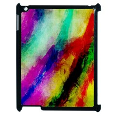 Colorful Abstract Paint Splats Background Apple Ipad 2 Case (black) by Simbadda