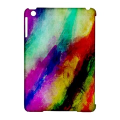 Colorful Abstract Paint Splats Background Apple Ipad Mini Hardshell Case (compatible With Smart Cover)