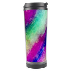 Colorful Abstract Paint Splats Background Travel Tumbler by Simbadda