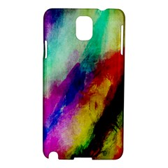 Colorful Abstract Paint Splats Background Samsung Galaxy Note 3 N9005 Hardshell Case by Simbadda